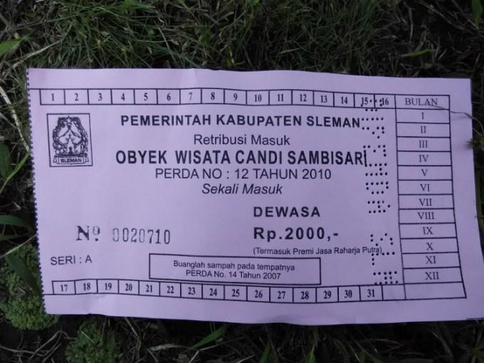 Tiket masuk Candi Sambisari