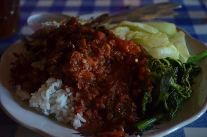 Sego tempong makanan khas Banyuwangi Jawa Timur