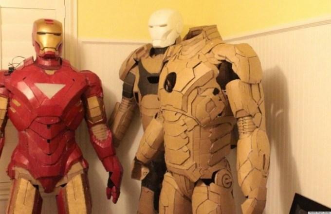 Kerajinan kostum iron man dari kardus