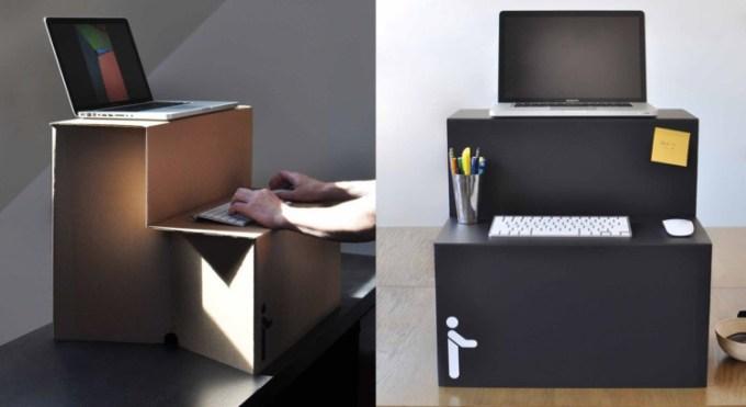 Meja Laptop dari Kardus