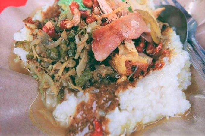 Nasi tepeng makanan khas Bali