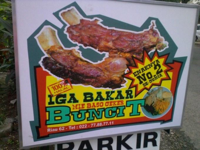 Iga Bakar Buncit Bandung