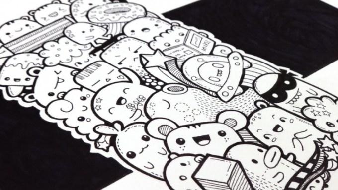 Doodle Art Makhluk Misterius