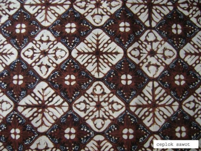 Motif Batik Ceplok Sawot