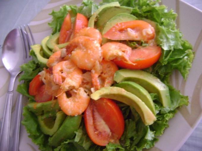 Salad Udang dan Alpukat