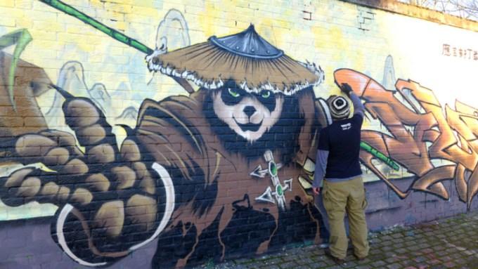 Gambar grafiti Kung Fu Panda