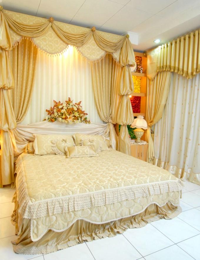 Dekorasi kamar pengantin sederhana tapi elegan