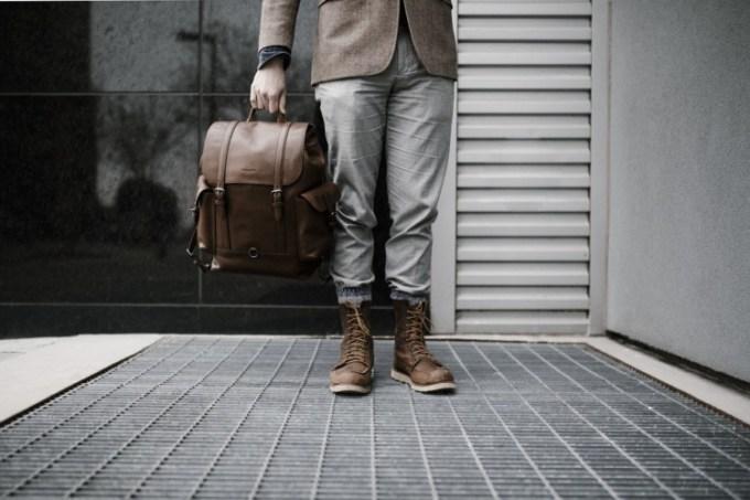 Tas Ransel Kulit untuk Pria