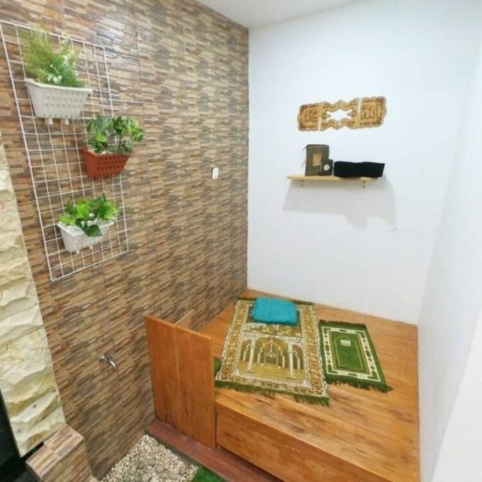 Desain mushola minimalis dengan tempat wudhu