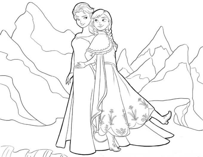 Sketsa Frozen