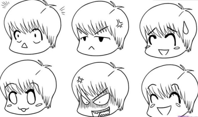Sketsa wajah kartun