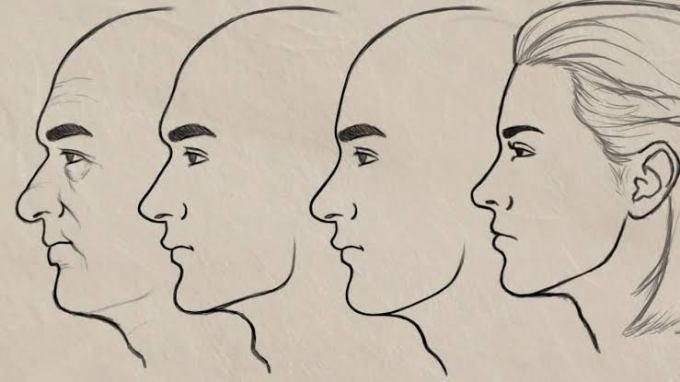 Gambar Sketsa Wajah Manusia Paling Keren Pria Dan Wanita