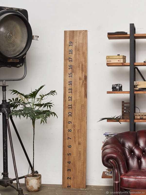 meteran tinggi badan dari kayu