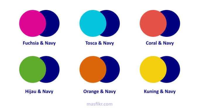 warna biru dongker paling cocok dengan warna apa