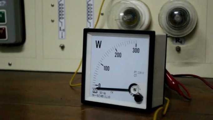 wattmeter analog