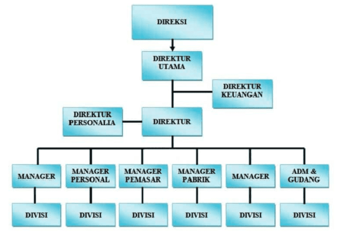 struktur organisasi perusahaan kecil