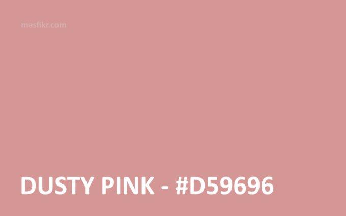 warna dusty pink