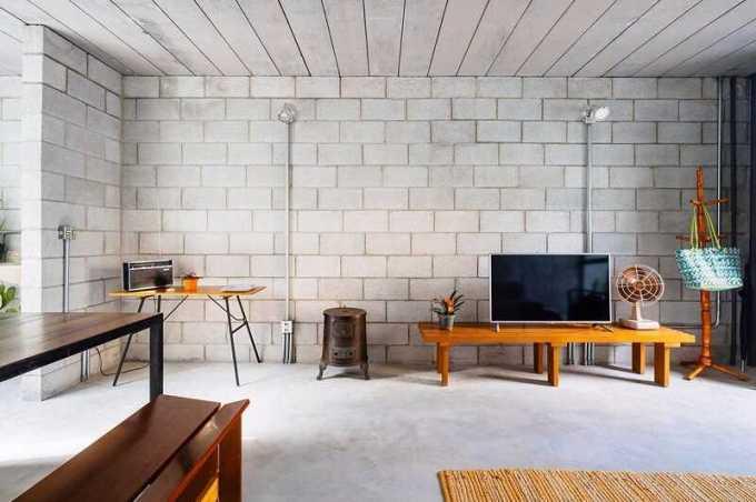 interior rumah hebel tanpa plester
