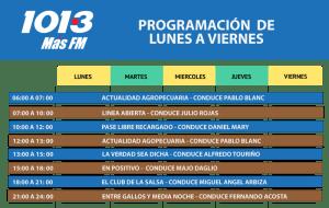 PROGRAMACION 2019 MAS FM