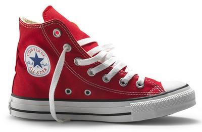 Zapatillas Converse modelo Chuck Taylor, un ejemplo de calzado adecuado para darle al hierro