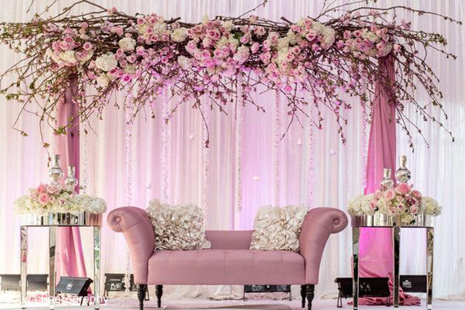 صور ثيمات عروس باللون الزهري