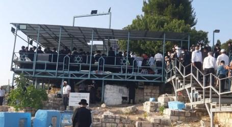 Una multitud en Safed por el Iortzait del Arizal