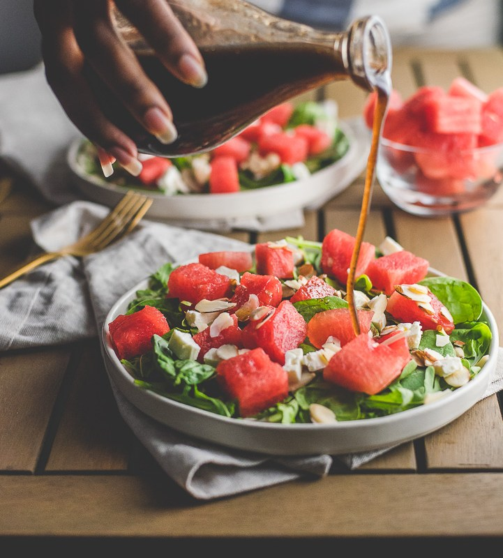 Watermelon Feta Salad with Balsamic Vinaigrette