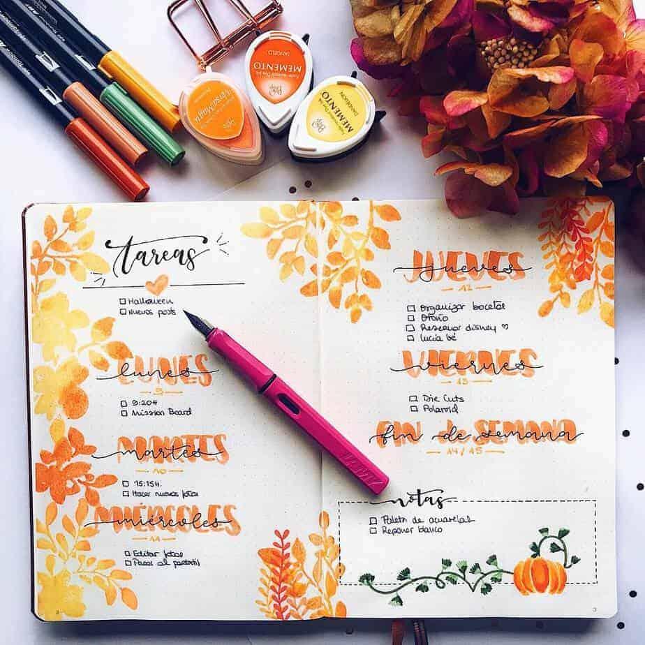 15 Stunning Fall Bullet Journal Theme Ideas Masha Plans