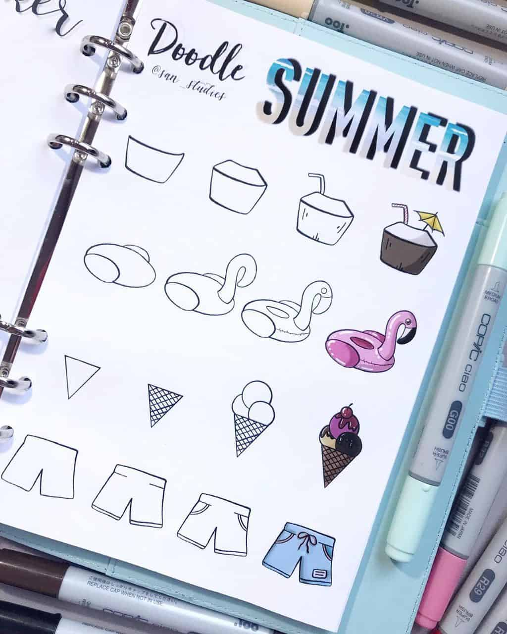 15 Simple And Fun Summer Bullet Journal Doodles