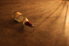 Die Flasche kreist zur Liederrunde.