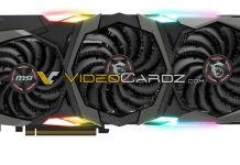 MSI GeForce RTX 2080 GAMING X TRIO front 消息顯示NVIDIA預計推出新卡為GeForce RTX 2080與2080 Ti