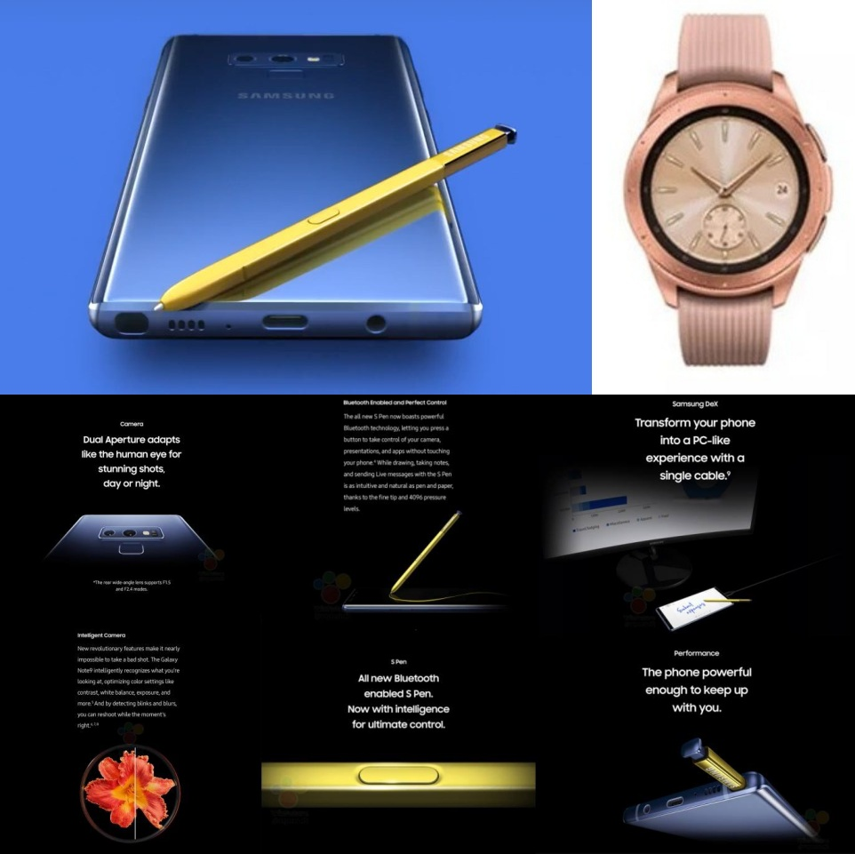 整理/即將 Unpacked 的 Galaxy Note 9、Galaxy Watch 相關傳聞 notefeat-side-down