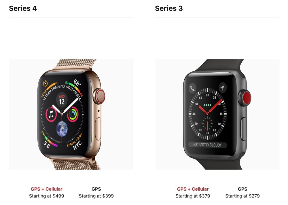 螢幕快照 2018 09 12 下午1.04.55 比一比/新款Apple Watch series 4有什麼不同?
