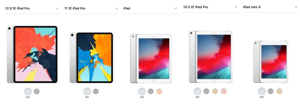 螢幕快照 2018 12 31 下午5.37.04 side 比一比/2018年款iPad Pro與其他市售iPad機種如何挑選?