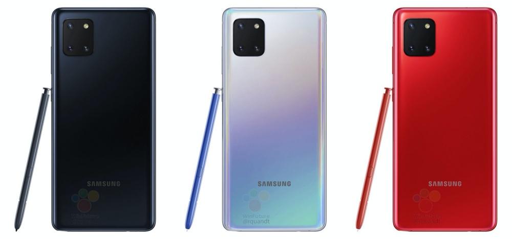 2 3 疑似Galaxy Note 10 Lite實機宣傳圖像曝光,尺寸略小、仍維持搭載S Pen