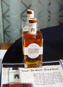 Town Branch Distillery, an extension of Alltech Lexington Brewing & Distilling Co. (Lexington, Kentucky) sampled their line of spirits: Town Branch Bourbon (pictured), Pearse Lyons Reserve, and Town Branch Rye.