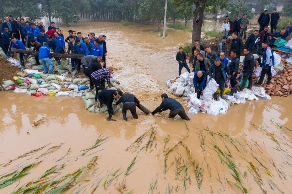 چین صوبے شان زی میں تباہی