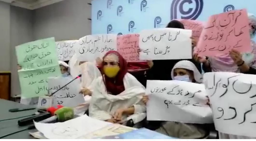 حسن گڑھی میں قبضہ مافیاکی خواتین کو دھمکیاں