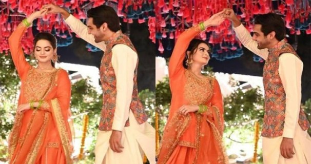 Dholki, photos and videos of Manal Khan and Ahsan Mohsin Ikram go viral
