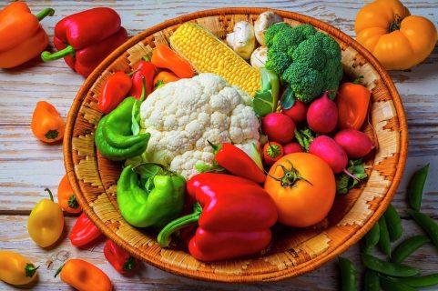 basket full of farm fresh vegetables garry gay