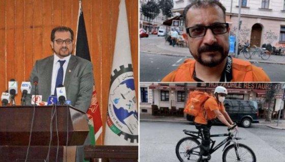 Afghan minister starts delivering pizza