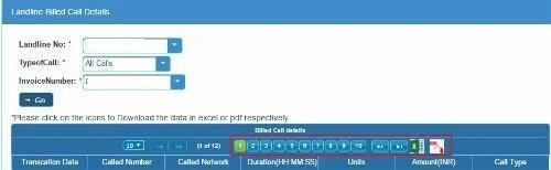 bsnl call details
