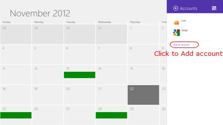 Google calendar to win 8