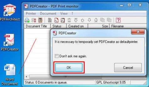 Set PDF as printer