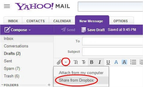 attachment email mail search yahoo