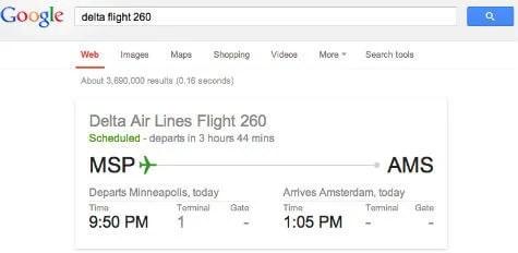 google search flight