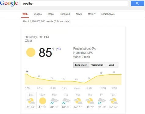 google weather search