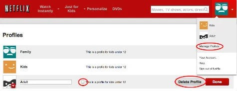 how to permanently delete netflix account