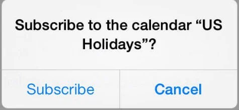 how to add a subscribed calendar to iphone