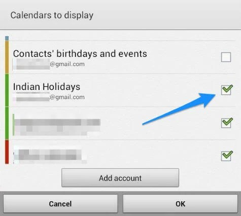 How To Add Country Holiday Calendar in Android Phone